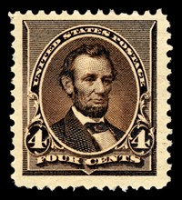 4c Abraham Lincoln single, 1890. Creator: American Bank Note Company.