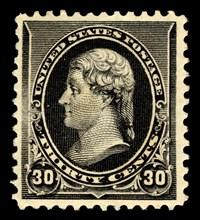 30c Thomas Jefferson single, 1890. Creator: American Bank Note Company.