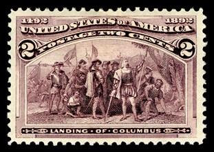2c Landing of Columbus single, 1893. Creator: American Bank Note Company.