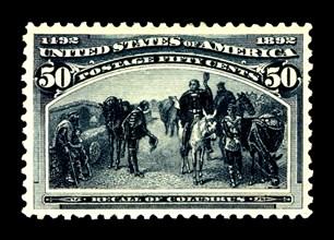 50c Recall of Columbus single, 1893. Creator: American Bank Note Company.