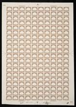10c Pan-American Fast Ocean Navigation frame plate proof, 487. Creator: Bureau of Engraving and Printing.