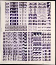 Huck Press experimental plate proof, 1957. Creator: Bureau of Engraving and Printing.
