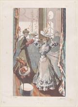 Chez la Modiste, ca. 1910. Creator: Maurice Delcourt.