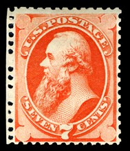 7c Edwin M. Stanton special printing single, 1875. Creator: Continental Bank Note Company.