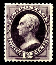 12c Henry Clay special printing single, 1875. Creator: Continental Bank Note Company.