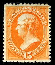 15c Daniel Webster special printing single, 1875. Creator: Continental Bank Note Company.