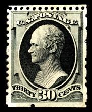 30c Alexander Hamilton special printing single, 1875. Creator: Continental Bank Note Company.