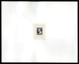 3c Washington essay large die proof, 1851. Creator: Michael Bean.
