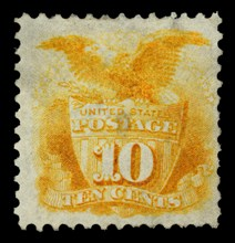 10c Shield and Eagle re-issue single, 1875. Creator: National Bank Note Company.