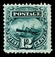 12c S.S. Adriatic re-issue single, 1875. Creator: National Bank Note Company.