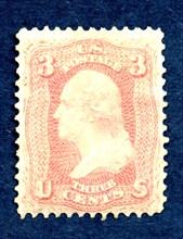 3c Washington single, August 17, 1861. Creator: National Bank Note Company.