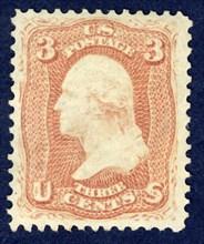3c Washington single, 1861. Creator: National Bank Note Company.