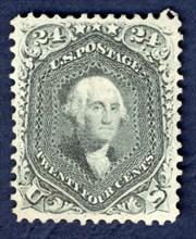 24c Washington single, 1862. Creator: National Bank Note Company.