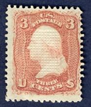 3c Washington E Grill single, 1868. Creator: National Bank Note Company.