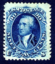 90c Washington F Grill single, 1867-1868. Creator: National Bank Note Company.