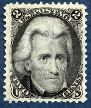 2c Andrew Jackson re-issue single, 1875. Creator: National Bank Note Company.