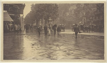 A Wet Day on the Boulevard, Paris, 1894. Creator: Alfred Stieglitz.