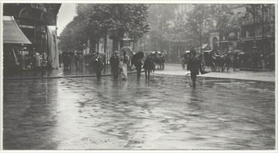 A Wet Day on the Boulevard, Paris, 1894, printed 1918/32. Creator: Alfred Stieglitz.