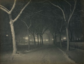 An Icy Night, New York, 1898. Creator: Alfred Stieglitz.