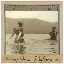 Emmy and Selma, Lake George, 1899. Creator: Alfred Stieglitz.