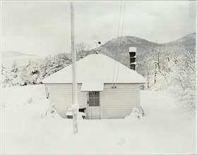 First Snow and the Little House, 1923. Creator: Alfred Stieglitz.