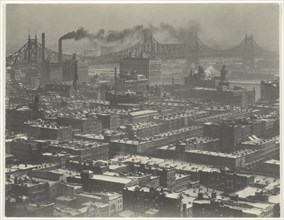 """From Room """"3003"""" - The Shelton, New York, Looking Northeast, 1927. Creator: Alfred Stieglitz."""