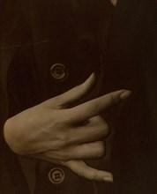 Georgia O'Keeffe - Hand, 1918. Creator: Alfred Stieglitz.