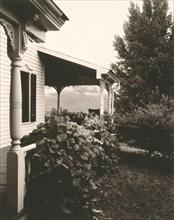House and Grape Leaves, 1934. Creator: Alfred Stieglitz.