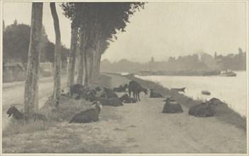 On the Seine—Near Paris, 1894, printed 1897. Creator: Alfred Stieglitz.