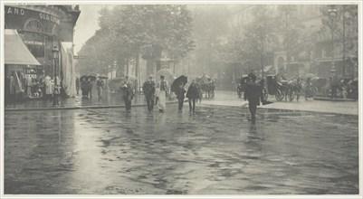 A Wet Day on the Boulevard, Paris, 1894, printed c. 1897. Creator: Alfred Stieglitz.