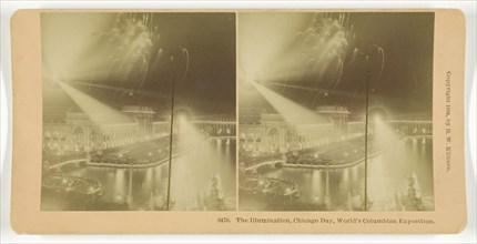 The Illumination, Chicago Day, World's Columbian Exposition, 1893. Creator: BW Kilburn.