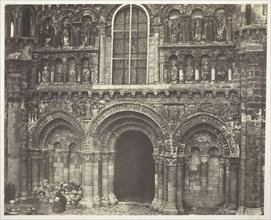 Notre Dame de Poitiers (Vienne), West Facade, 1854/55, printed 1858/63. Creators: Bisson Frères, Louis-Auguste Bisson, Auguste-Rosalie Bisson.