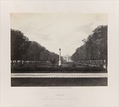 Avenue de l'Observatoire (Luxembourg), c. 1867. Creator: Charles Soulier.