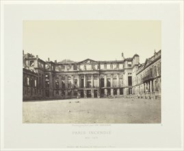 Paris Fire (Facade of the Palais de Saint-Cloud), May, 1871. Creator: Charles Soulier.