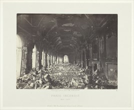 Paris Fire (Great Hall of the State Council), May 1871. Creator: Charles Soulier.