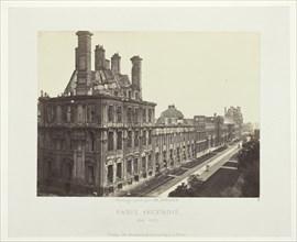 Paris Fire (Palais des Tuileries, Pavillon de Marsan), May 1871. Creator: Charles Soulier.