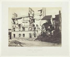 Paris Fire (Ruins of Houses, Rue de l'Hôpital [Saint-Cloud]), May, 1871. Creator: Charles Soulier.