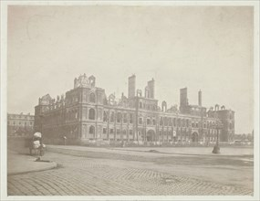Paris Fire (The Facade of City Hall), May 1871. Creator: Charles Soulier.