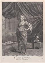 Dame Grecque, dans son Apartement, 1714-15. Creator: Unknown.