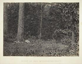 Scene of Gen. McPhersons Death, 1864/66. Creator: George N. Barnard.