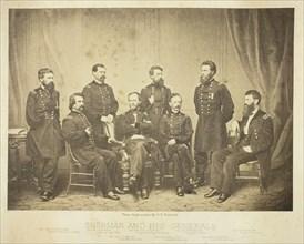 Sherman and His Generals, 1865. Creator: George N. Barnard.