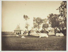 Preparation of the Emperor's Table, Camp de Châlons, 1857. Creator: Gustave Le Gray.