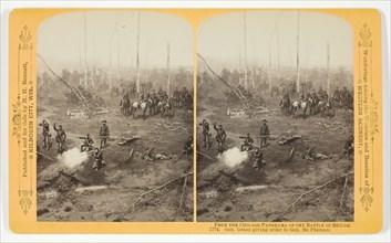 Gen. Grant giving order to Gen. McPherson, 1887. Creator: Henry Hamilton Bennett.