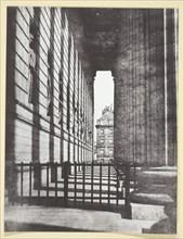 Colonnade de l'église de la Madeleine, 1842/50, printed 1965. Creator: Hippolyte Bayard.