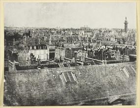 Les Toits de Paris (Vue de la rue Castiglione?), 1842/50, printed 1865. Creator: Hippolyte Bayard.