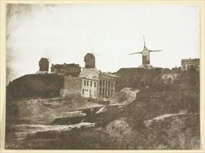 Moulins de Montmartre, possibly 1842/50, printed 1965. Creator: Hippolyte Bayard.