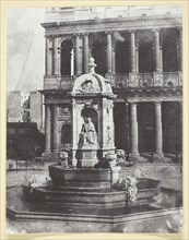 Place Saint-Sulpice, 1842/50, printed 1965. Creator: Hippolyte Bayard.