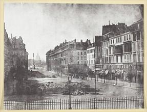 Rue Royale et Restes des Barricades de 1848, 1848, printed 1965. Creator: Hippolyte Bayard.