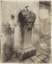 Versailles, Fontaine dans la Cour de Marbre, 1903. Creator: Eugene Atget.