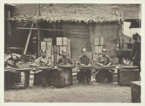 Tea-Picking in Canton, c. 1868. Creator: John Thomson.